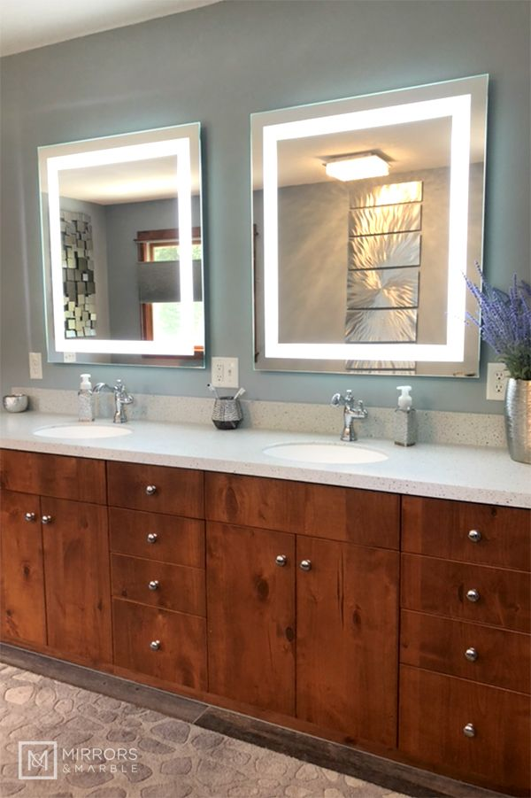 Front Lighted Led Bathroom Vanity Mirror 32 Quot X 36