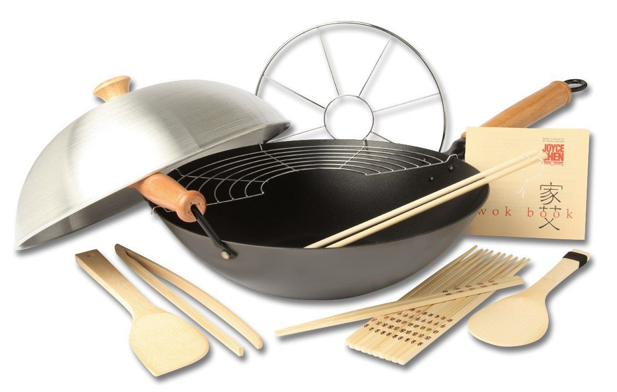 Cookware gt see more select by calphalon ceramic nonstick 8 inch an - Joyce Chen Pro Chef 14 Inch 10 Piece Excalibur Non Stick Wok Set Additional Details At The Pin Image Click It Roasting Pans Robot Check See More