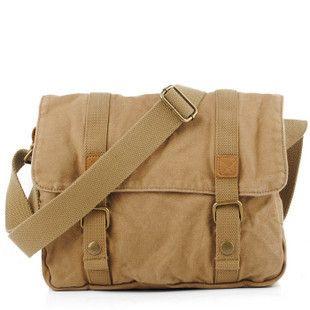 Best Khaki Canvas School Messenger Bag From Vintage Rugged Bags