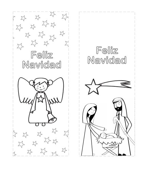 Marcapáginas de Navidad para colorear | Marcapáginas, Colorear y Navidad