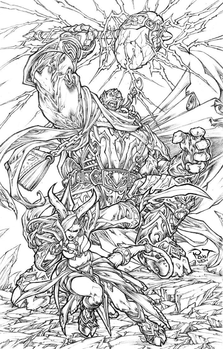 World of Warcraft Draenei Drawing Super cool World of Warcraft Art ...