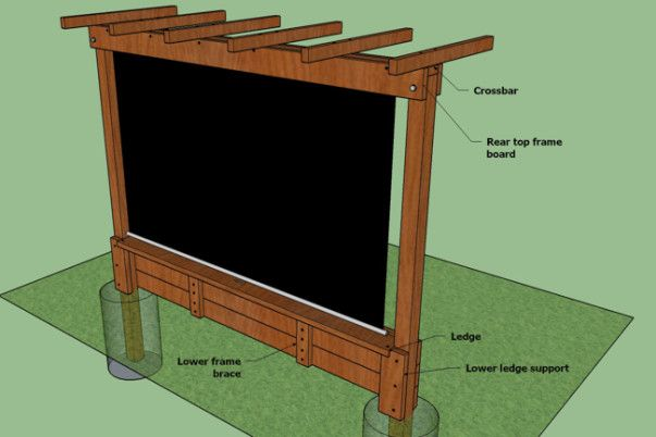 Show Thyme How To Build An Outdoor Theater In Your Garden Outdoor Theater Outdoor Remodel Outdoor Movie Screen