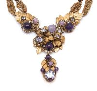Miriam Haskell lavender necklace, 1950s