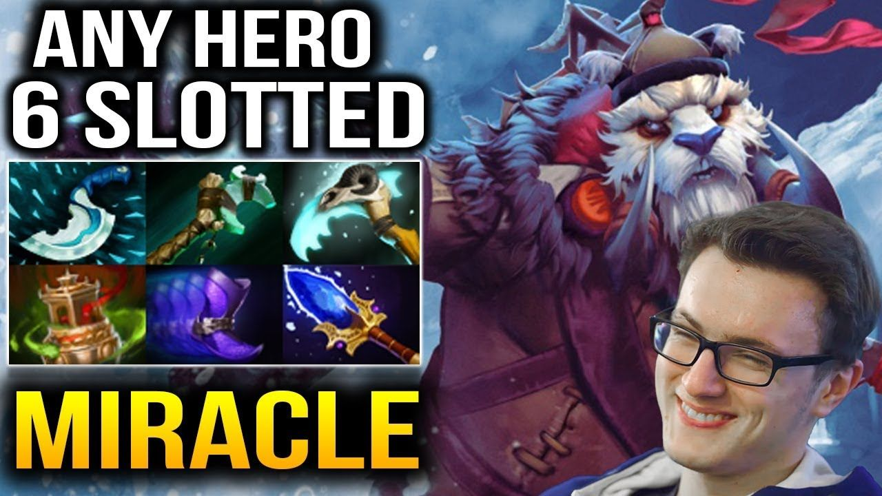 Miracle- Tusk Roaming Still 6 Slotted with 31 Assists Dota 2