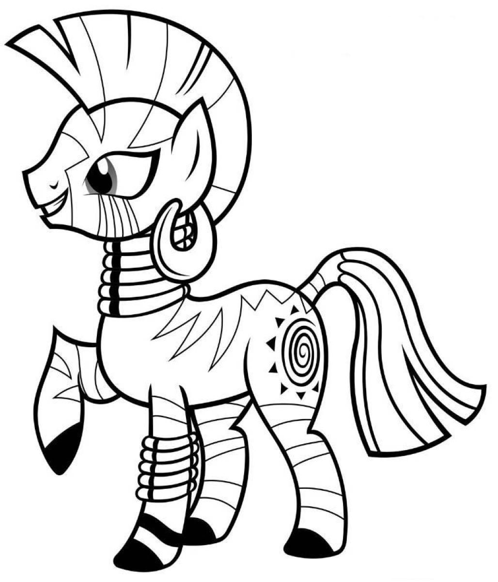 My Little Pony Coloring Pages Zecora | printables and such | Pinterest