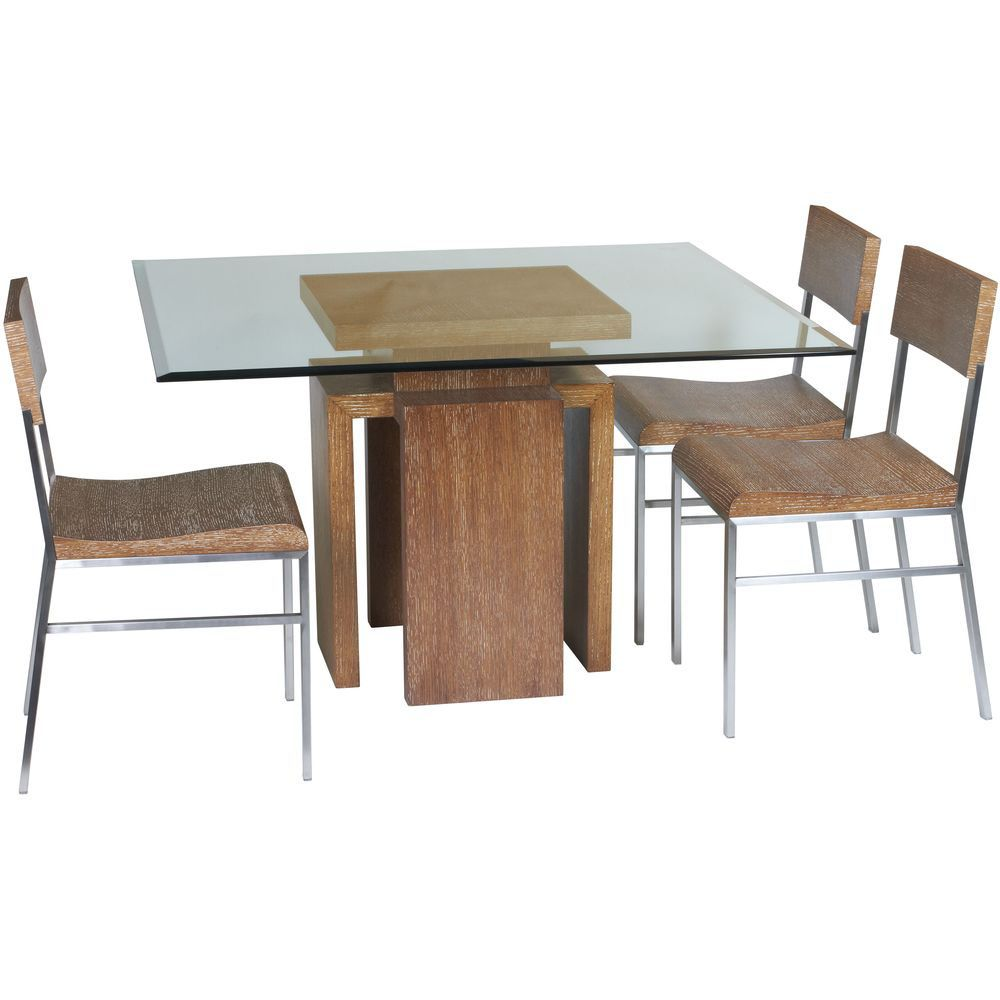 Glass Top Dining Table Set 4 Chairs Square Dining Tables Glass