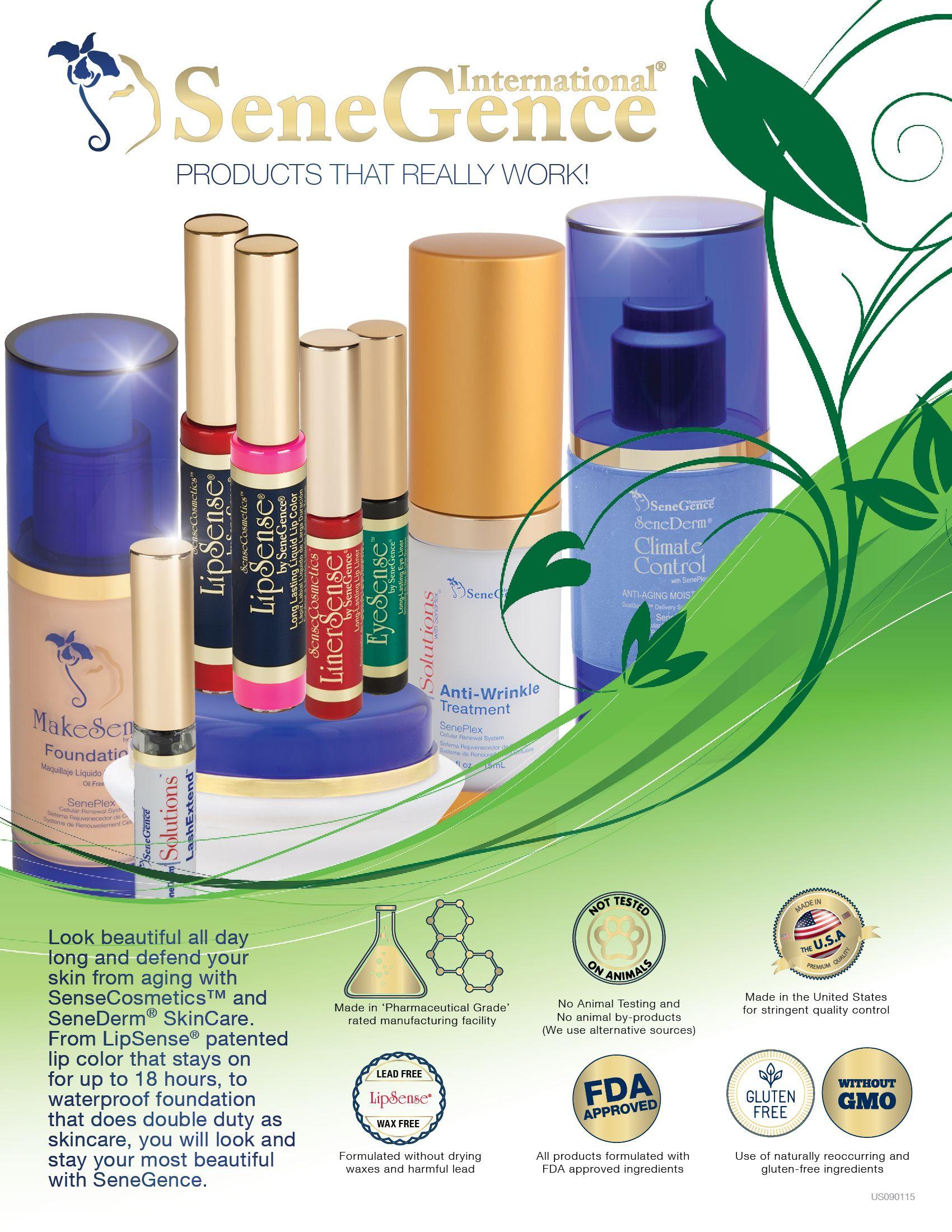 SeneGence products are GMOfree, Glutenfree, animal