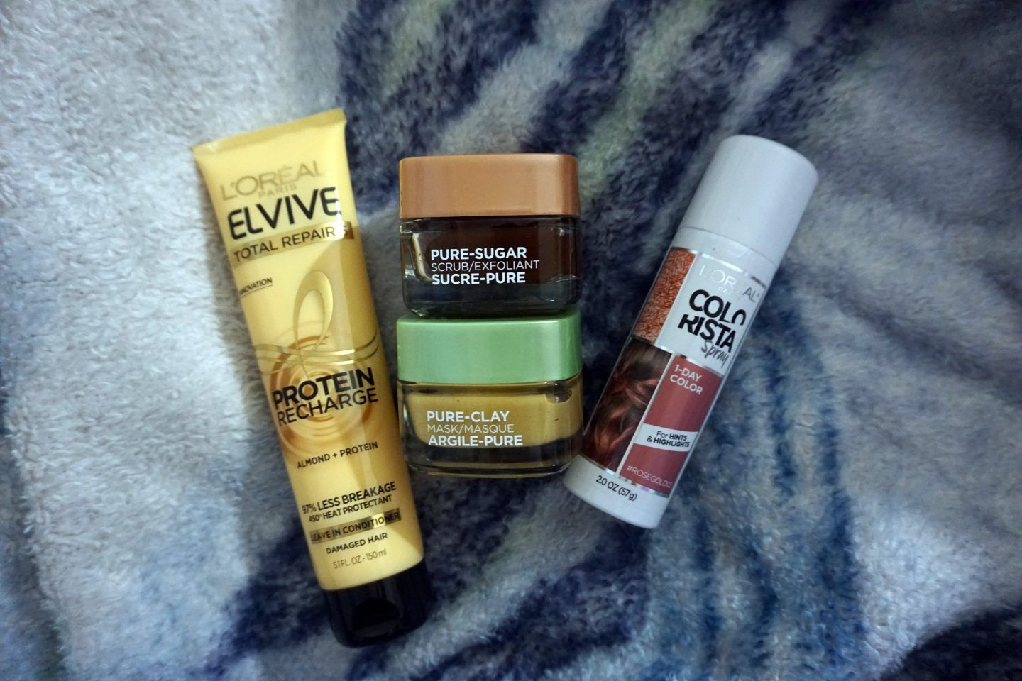 L'Oreal Review Hair Pure clay mask, Pure products