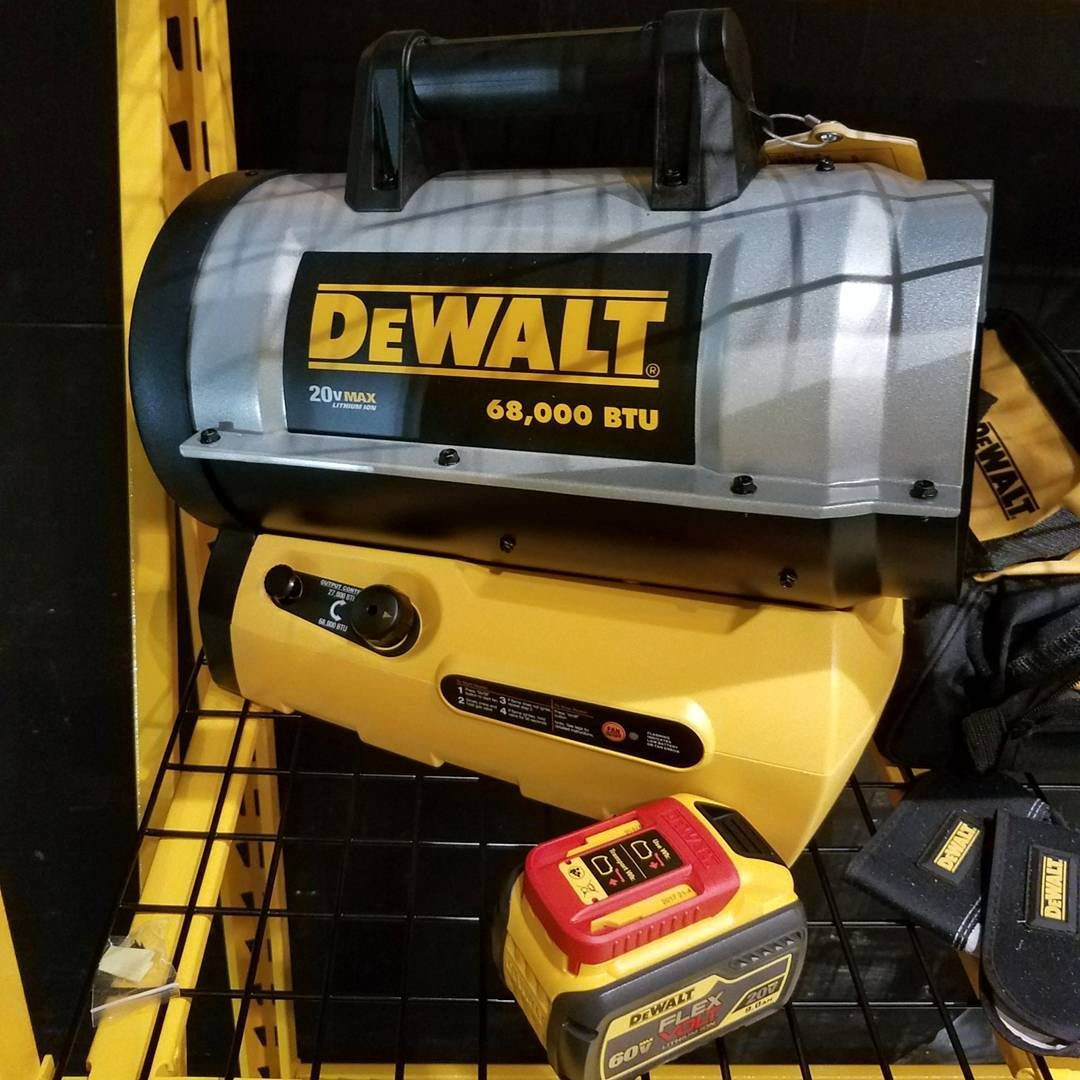 The New DeWalt 68,000 BTU 20v cordless heater. I saw it at the media ...