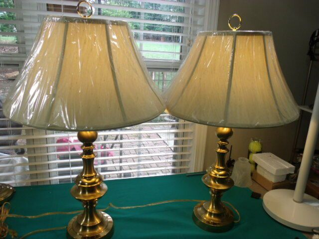Two Matching Vintage Westwood Lighting Large Solid Br