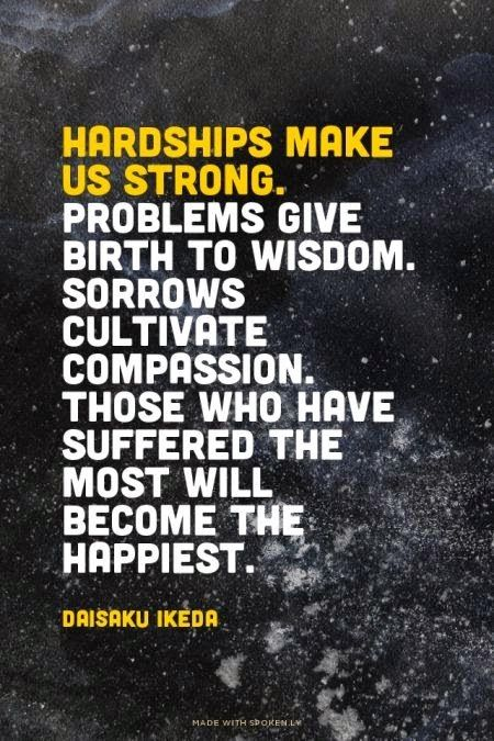 Inspirational Picture Quotes Hardships Makes Us Strong Quotes