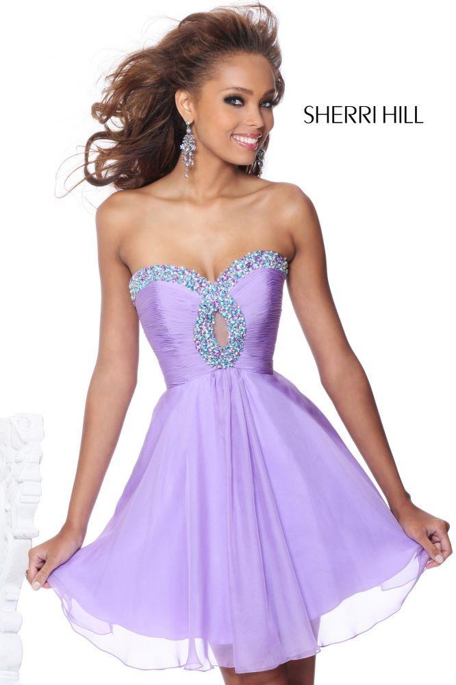 2013 Sherri Hill 2944 Lilac Homecoming Dresses   Dresses   Pinterest