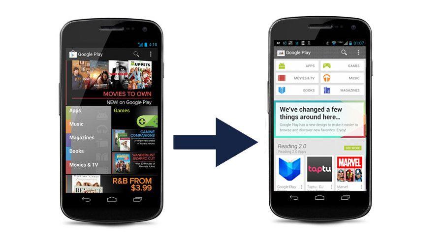 Google Internally Testing New Play Store Design Store Design