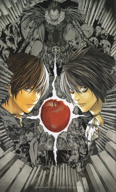 Manga: Death Note. I accidentally pinned this to my Christianity board...that would have been bad if I didn't catch that.