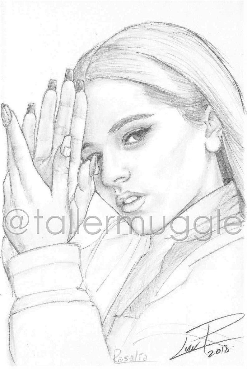 Rosalia Retrato Lapiz Dibujos Realistas A Lapiz Dibujos De Famosos