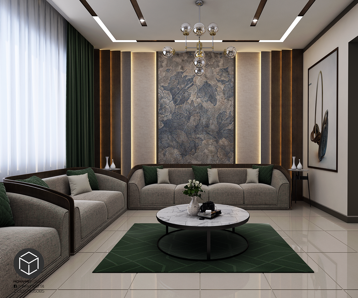 Modern Interior Decoration Living Rooms Ceiling Designs: Women Majles On Behance In 2020 (With Images)