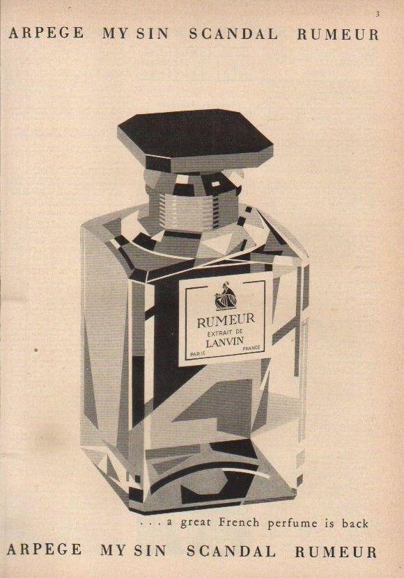 1947 Arpege My Sin Scandal Rumeur Perfume Bottle 1940s