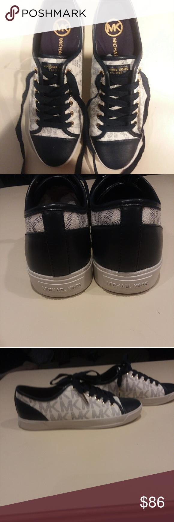Michael Kors blue \u0026 white leather shoes