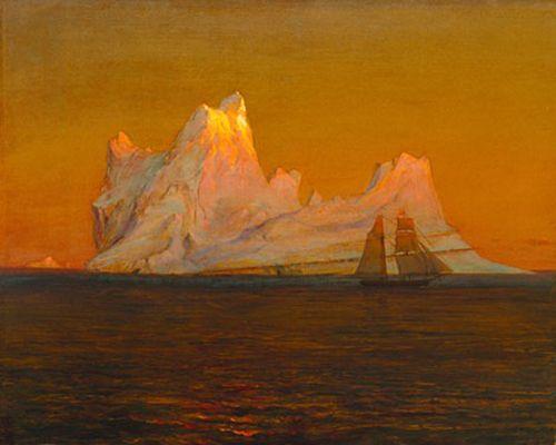 Frederic Edwin Church The Iceberg 1875 Courtesy Of The Terra