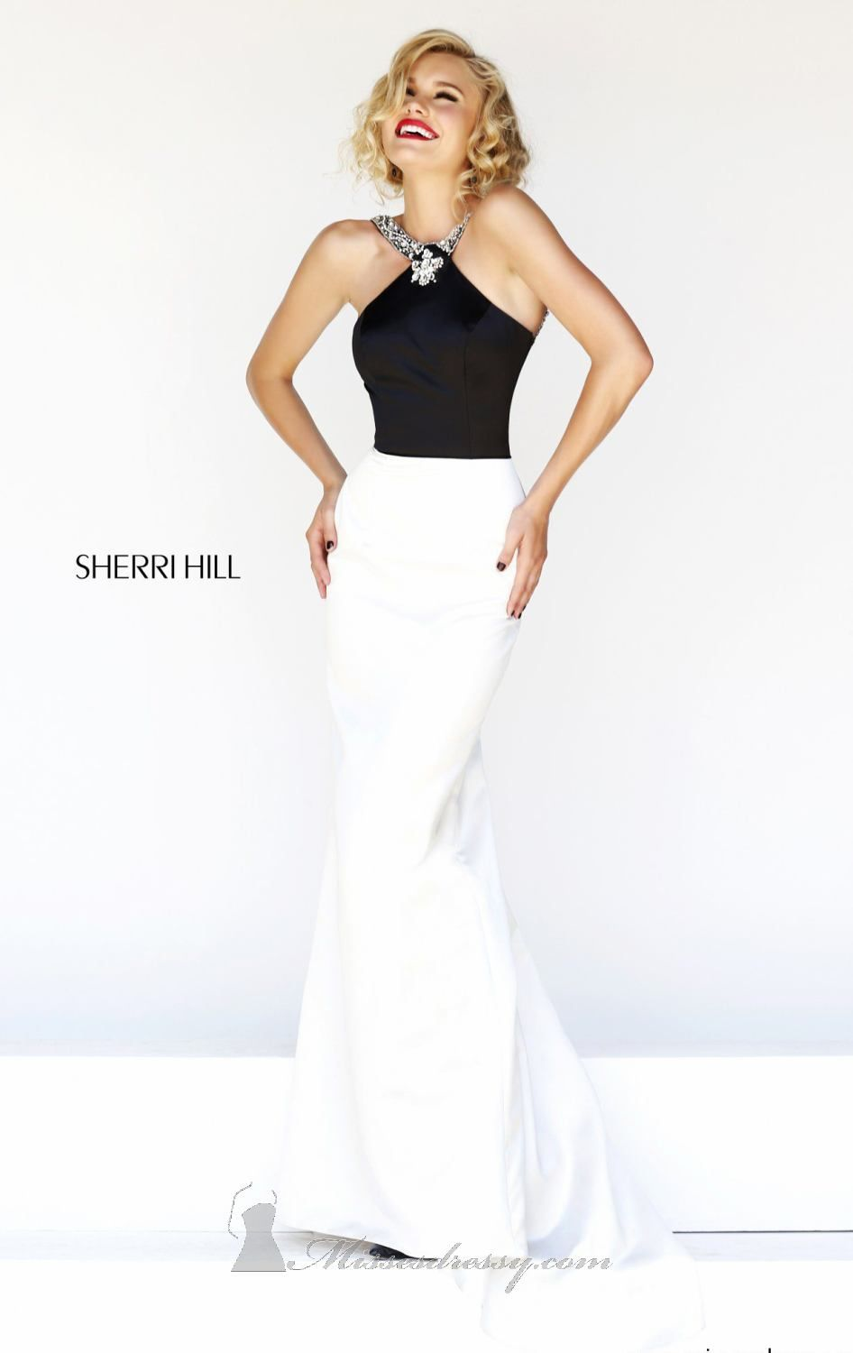 Sherri hill by sherri hill black and white pinterest