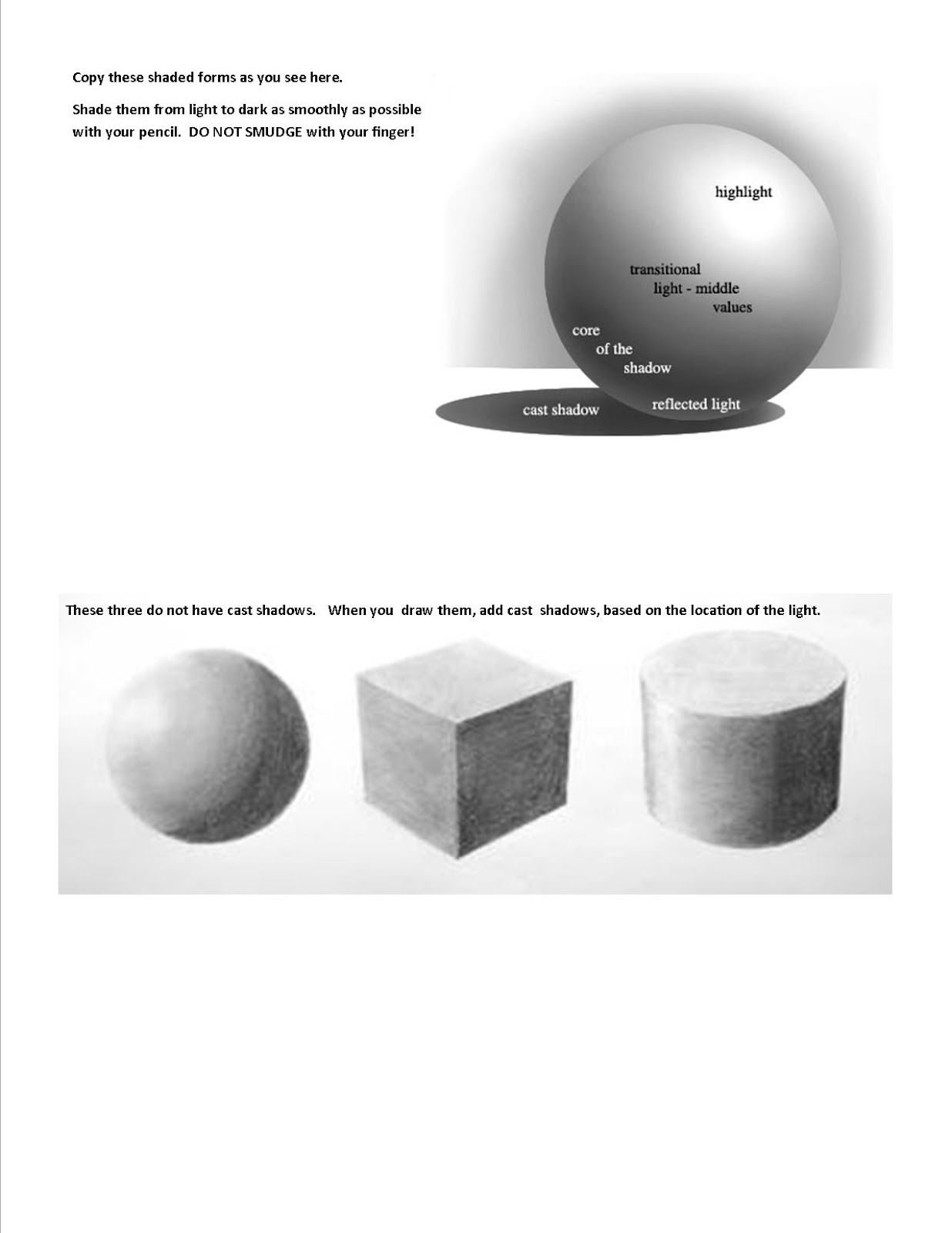 Foreground Middleground Background Worksheet