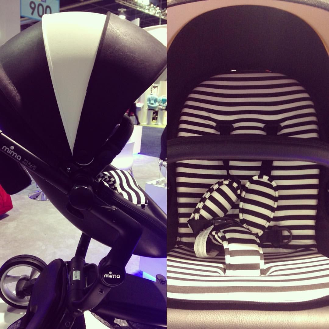 We love this mima_kids luxury stroller's modern feel with