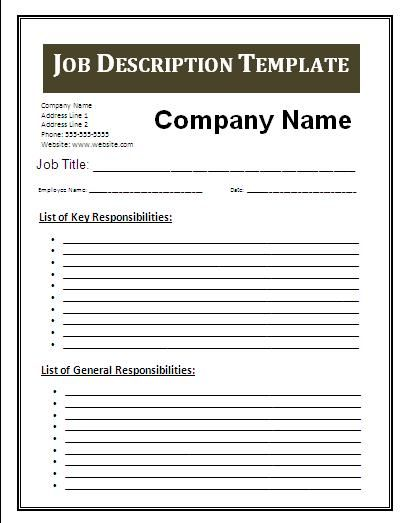 Job Description Template Free Business Templates zCxZ0wz5 My place - payroll spreadsheet template excel