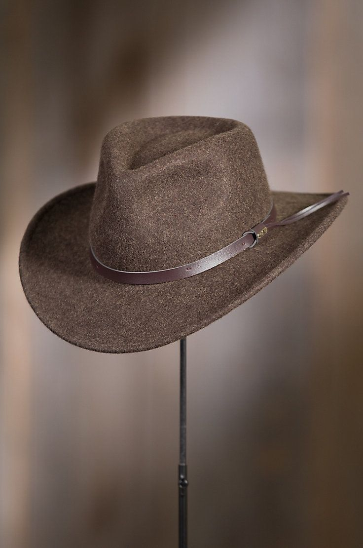 359de17753e Our Brisbane Crushable Wool Felt Outback Hat was born to navigate city  streets or mountain trails with style.