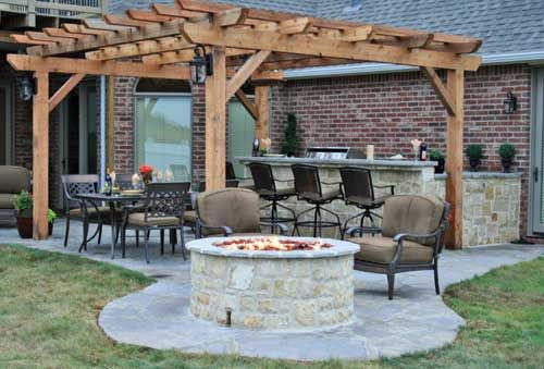 Just About Fire Pit Season Can T Wait To Set Something Up Like This Under Our Pergola Kitchen Dining Fire Pit Pergola Patio Backyard Pergola