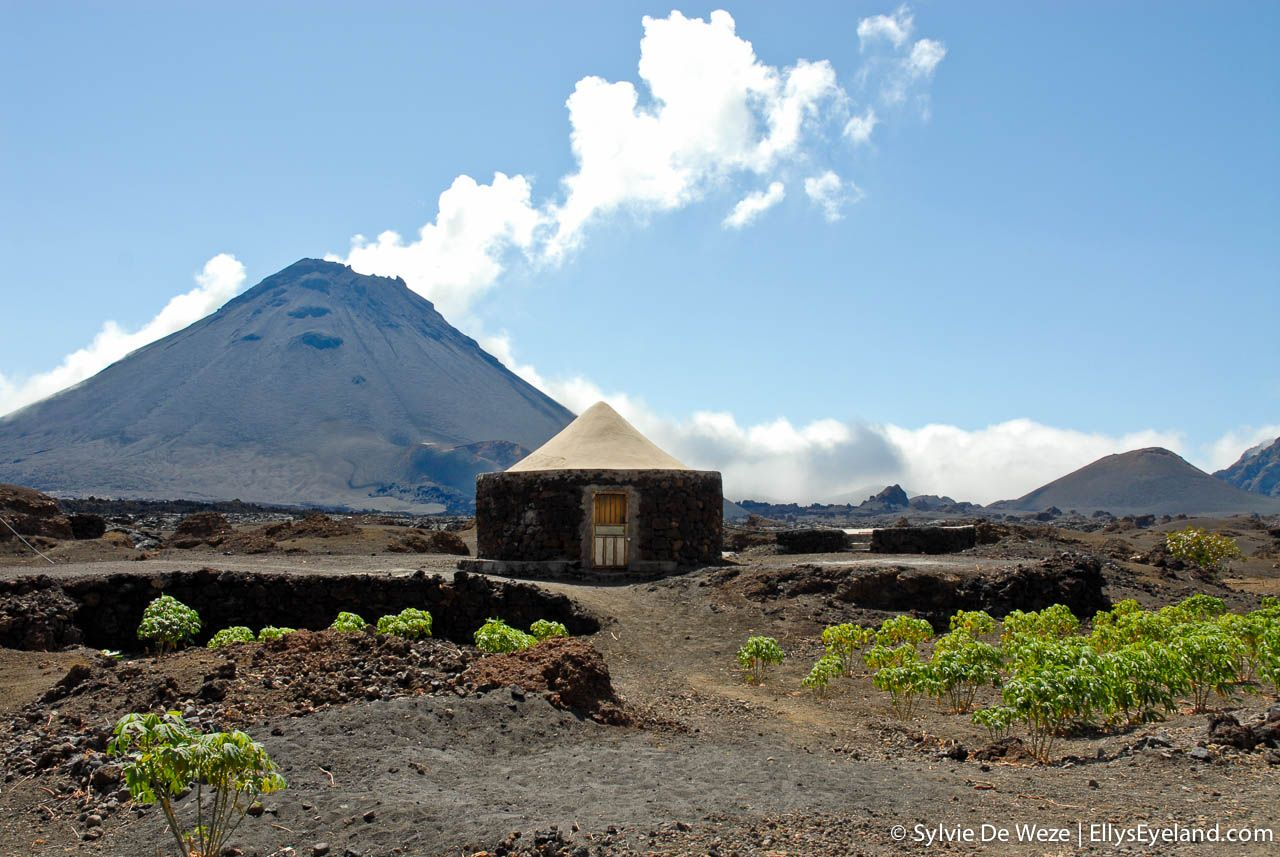 Fogo Cape Verde Typical crater houses