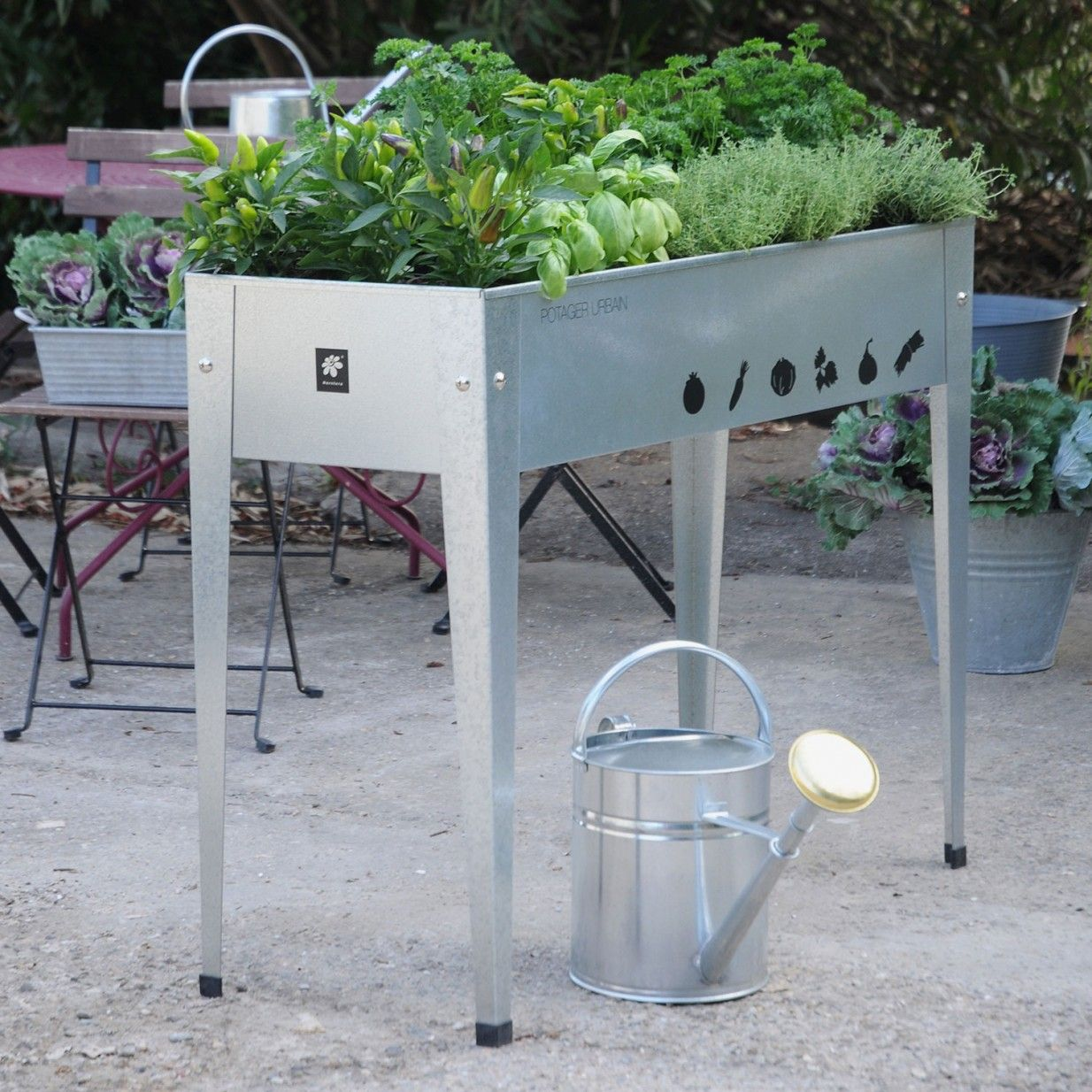 Urban Garden Tisch Zink Herstera Garden Urban garden