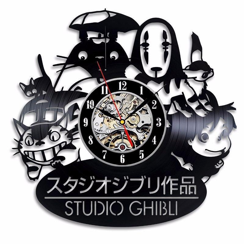 My Neighbor Totoro Spirited Away Vinyl Lp Record Clock Sd01266 Vinyl Gifts Anime Gifts Classic Clocks