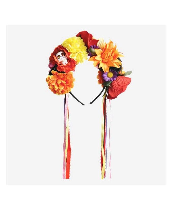 Corona De Flores Frida Kahlo Disfraz Sugar Skull Disfraz Dia De