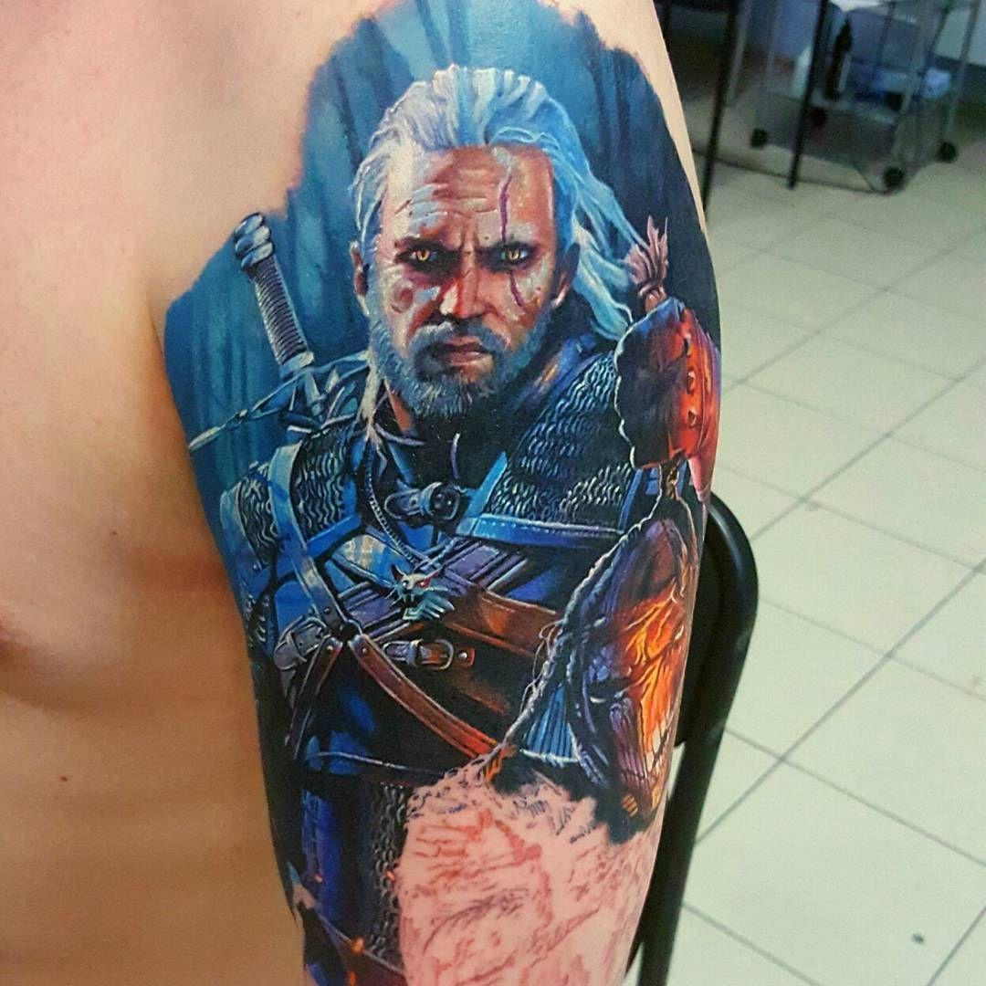 30 Geralt Tattoo Designs For Men – Witcher Ink Ideas