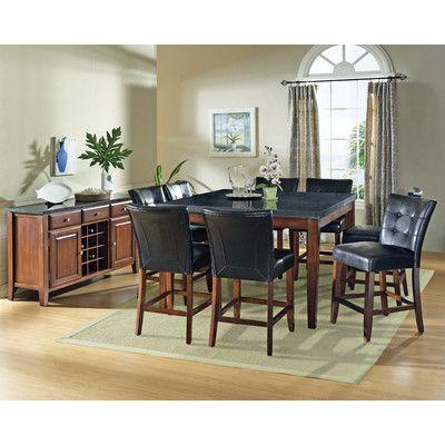 steve silver furniture granite bello counter height dining table rh pinterest co uk