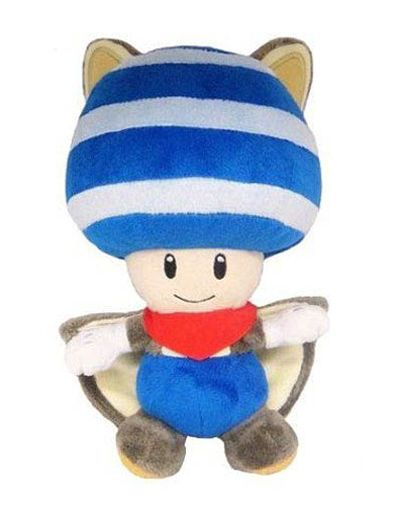 """New Super Mario Bros Plush Flying Squirrel Yellow Toad Soft Toy Stuffed Doll 8/"""""""