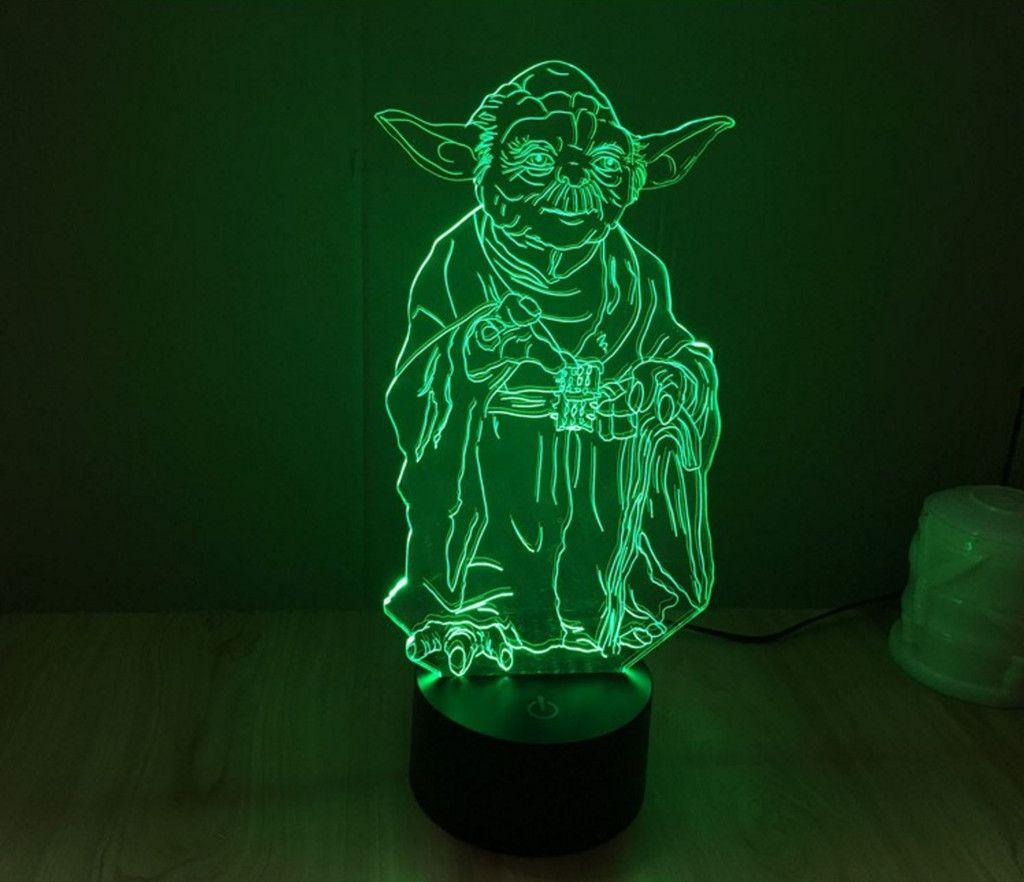 Star Wars Yoda Hologram 3d Lights Table Desk Lamp Home Decor 3d Led Night Light 3d Led Lamp 3d Led Light