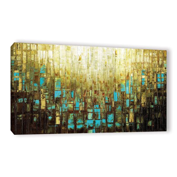 Abstract Art Print Mid Century Modern Abstract Art Canvas Large Wall ...