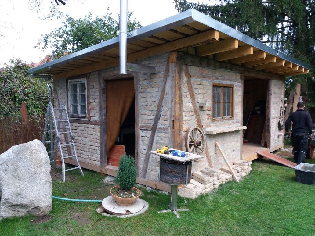 Fachwerkhaus selber gestalten Backsteine und Holz
