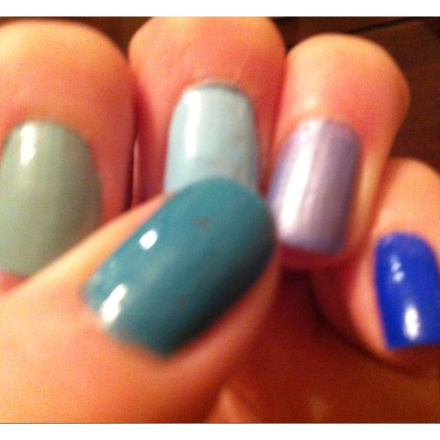 Blue nails as your something blue. Would you? What shade?