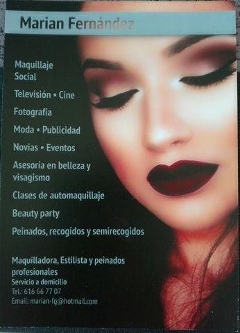 b9d672b57 Soy maquilladora y Estilista profesional, con una gran trayectoria  trabajando en tv, publicidad