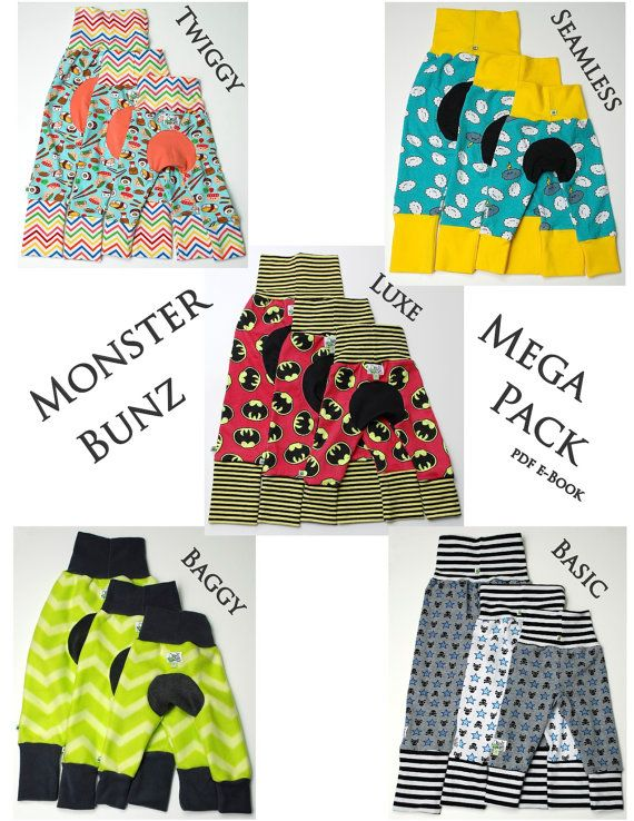 Monster Bunz Mega Pack ~ pdf sewing pattern e-Book ~ 5 Styles ...