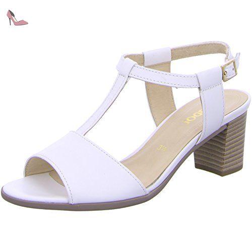 Gabor Sandales pour Femme White - - Weiß, 37 EU