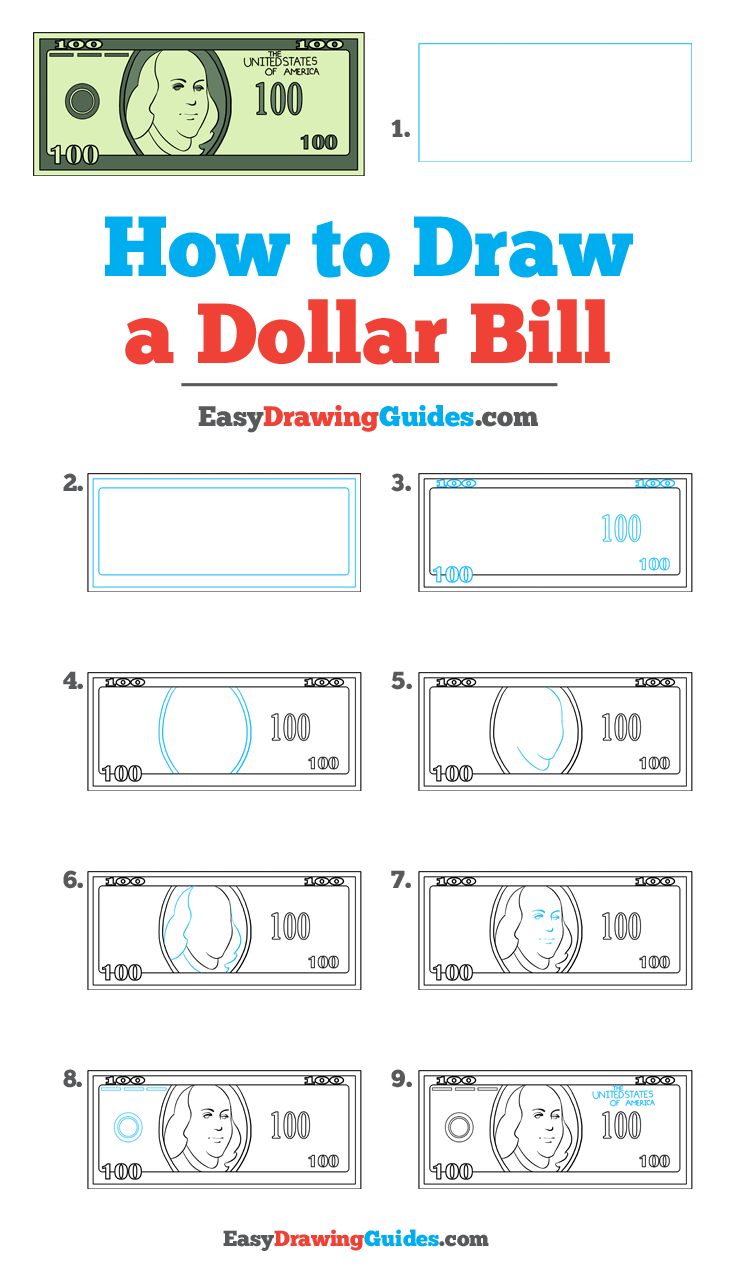 How To Draw A Dollar Bill Really Easy Drawing Tutorial Drawing Tutorial Easy Drawing Tutorial Drawing Tutorials For Kids