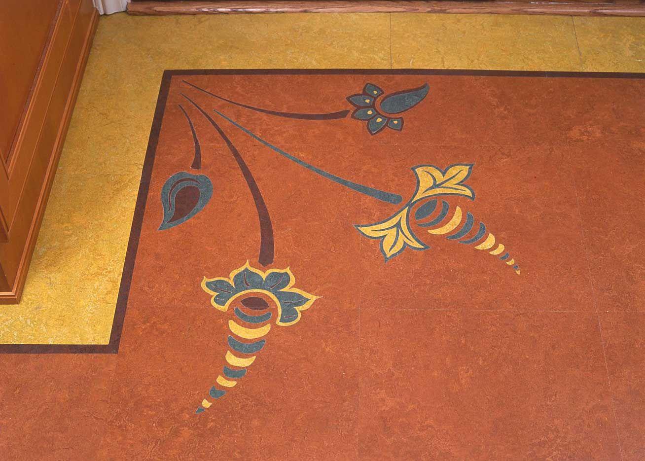 Crogan inlay floors linoleum rugs for the home for Cool linoleum flooring