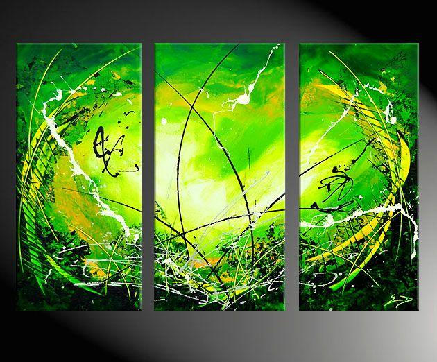 ins grune abstraktes modernes gemalde moderne kunst abstrakt abstrakte formen