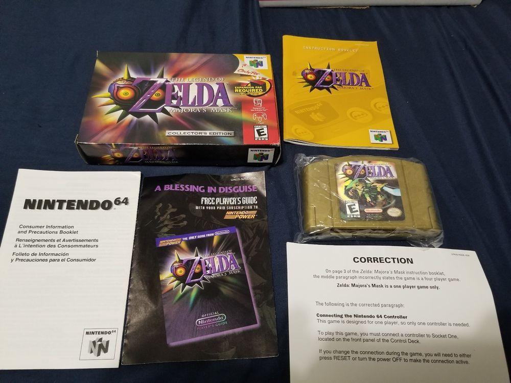 Zelda Majora S Mask Nintendo N64 Authentic Complete Collector S Edition Cib Majoras Mask Majoras Nintendo N64