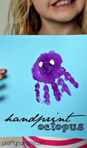 Handprint Octopus Craft For Kids Crafty Morning Children
