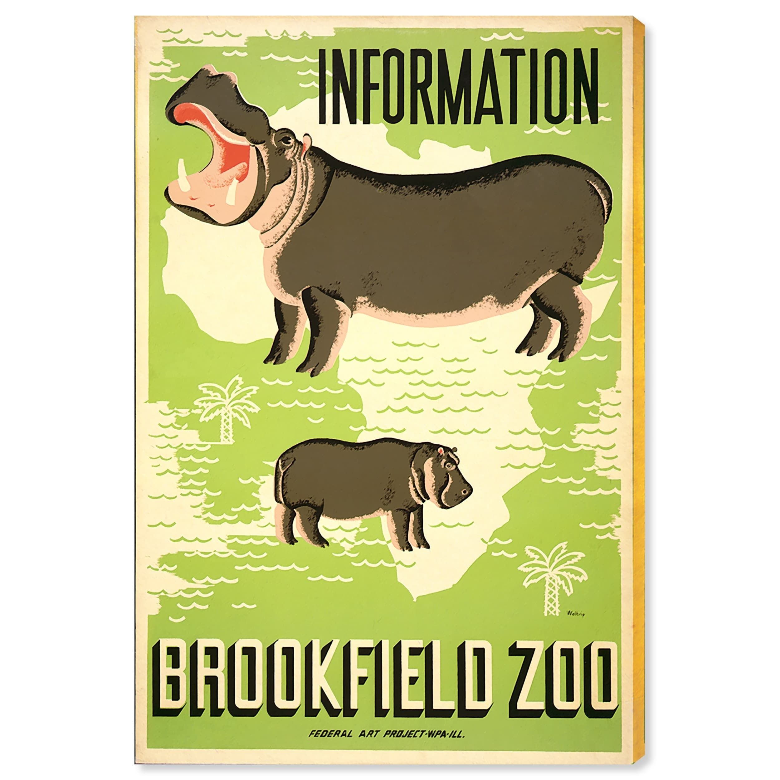 Oliver Gal \'Brookfield Zoo Hippos\' Canvas Art | Products | Pinterest ...