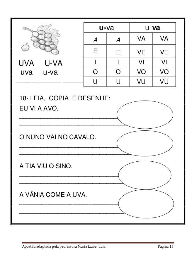Apostila Adaptada Alfabetizacao Alfabetizacao Educacao Soletrando